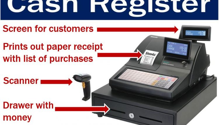 Cash register with features - image