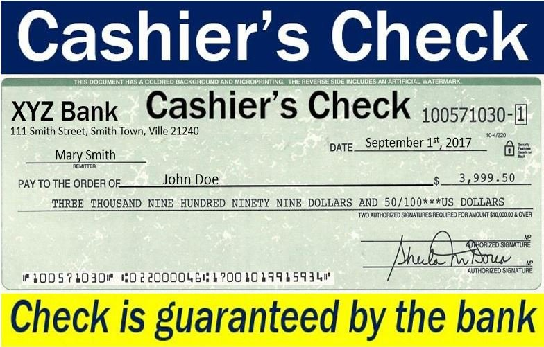 how to make sure a bank cheque is real