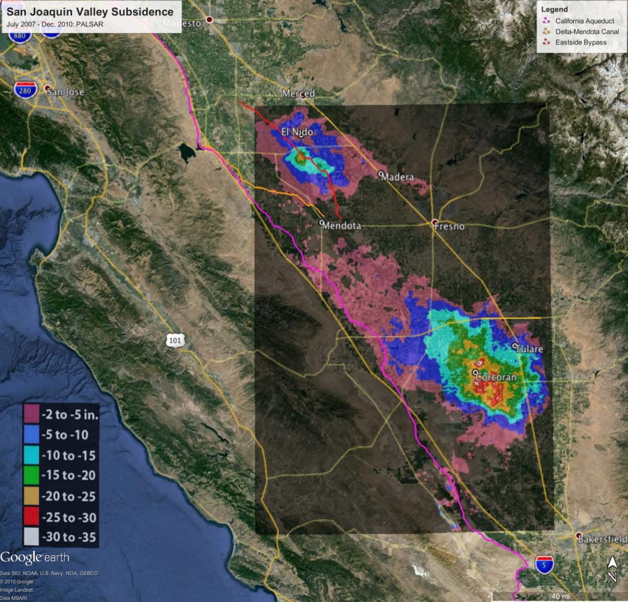 San Joaquin Valley sinking