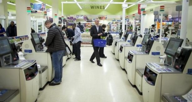 Self service cash register