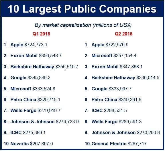 largest public companies