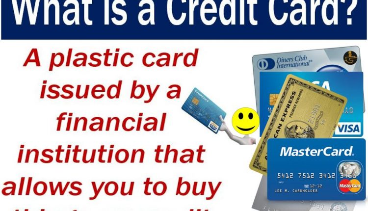 Credit card - image explaining what it is