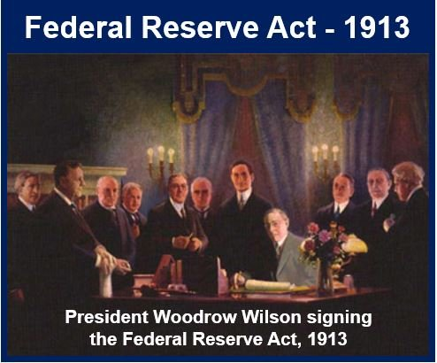Federal Reserve Act signing 1913