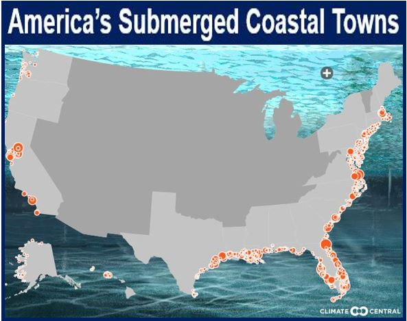 American towns under water