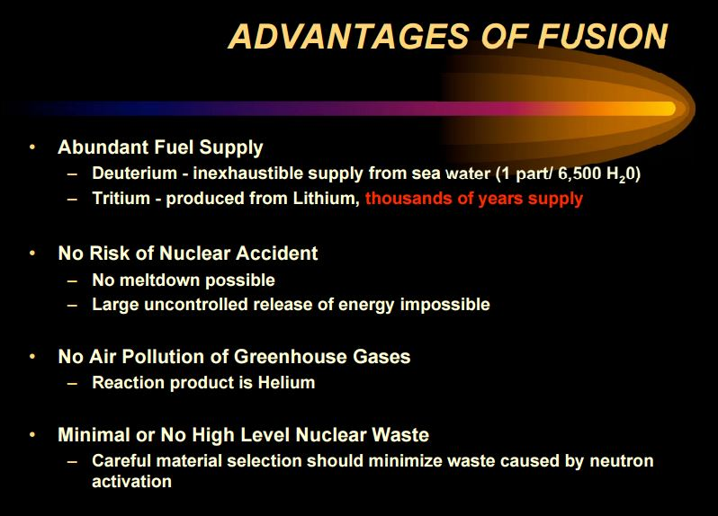 Advantages of Fusion