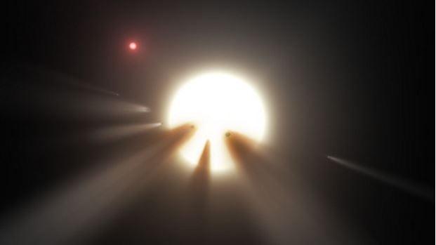 Destruction of comets and not Alien Megastructure