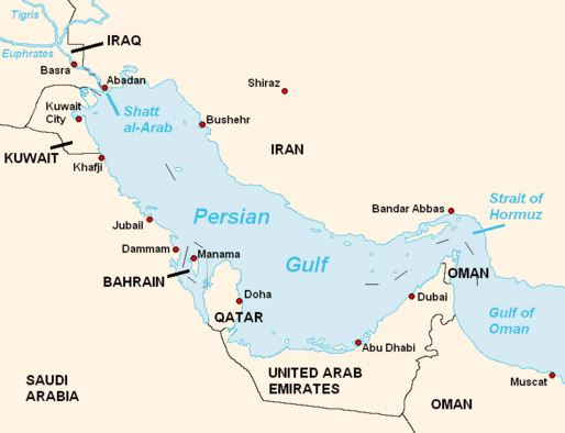 Persian Gulf heat region