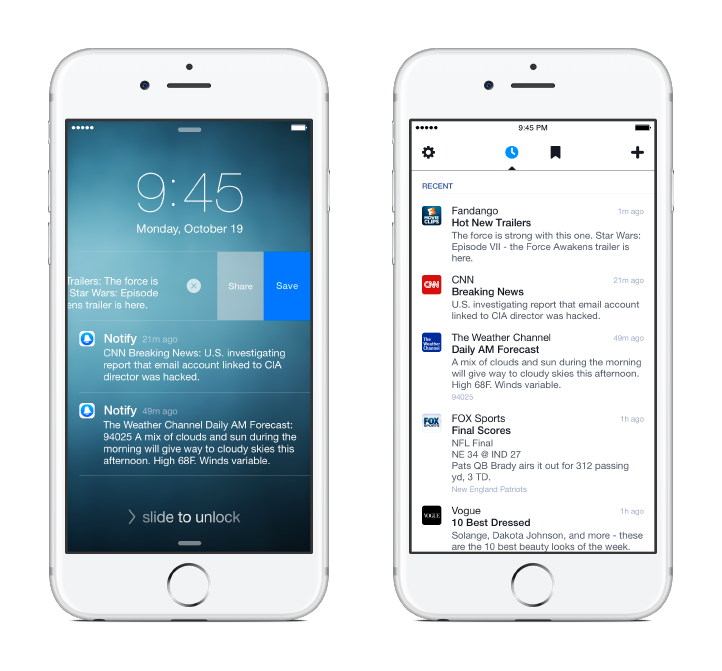 Facebook Notify App