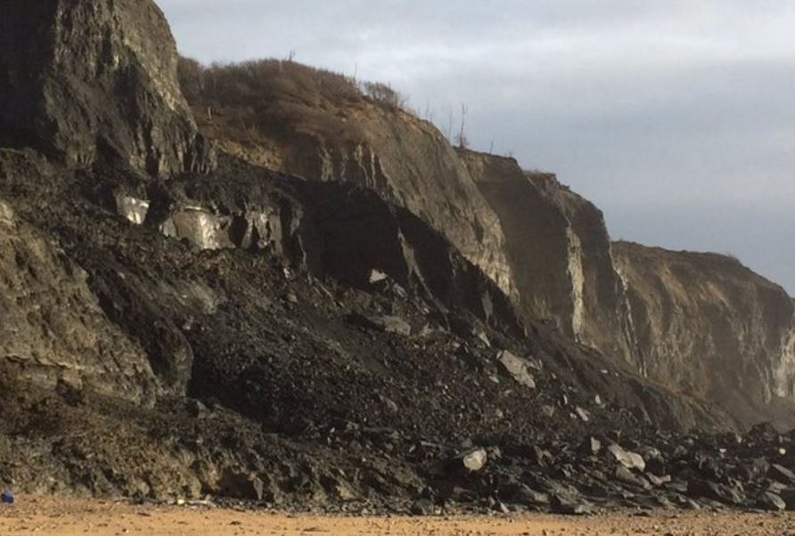 Charmouth cliff collapse