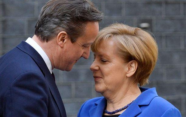 David Cameron and Angela Merkel