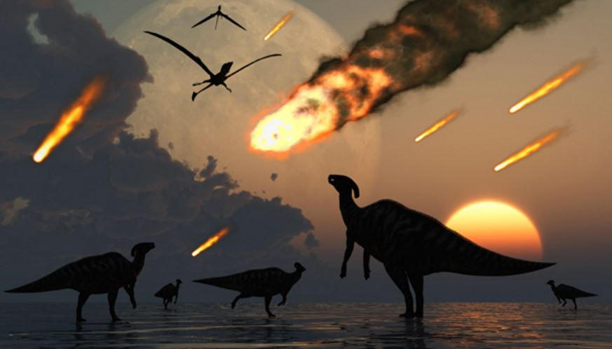 Giant meteor wipes out dinosaurs