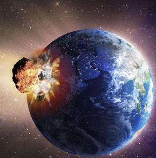 asteroid hitting earth dust - photo #18