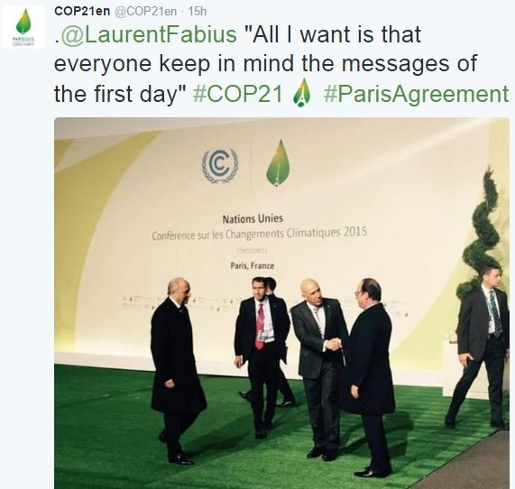 Global climate change agreement
