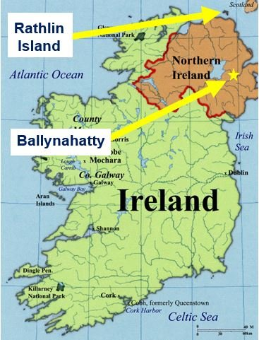 Where the ancient Irish people came from