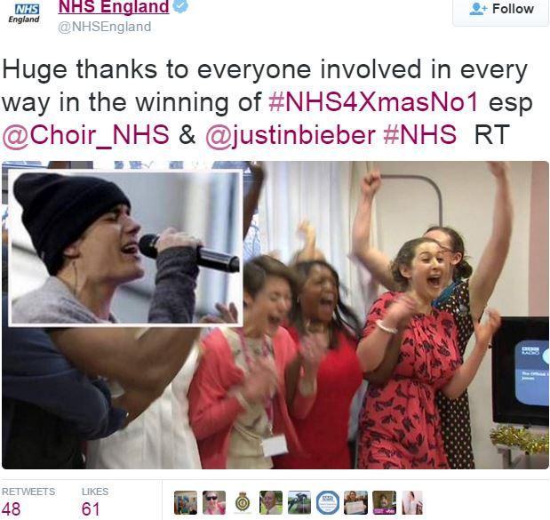 NHS Choir thanks everybody