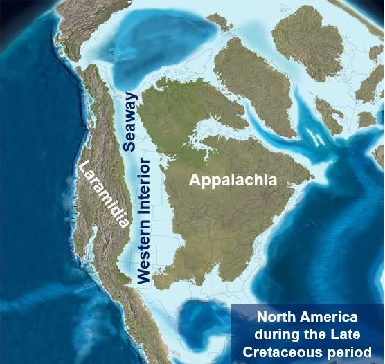 North America millions of years ago