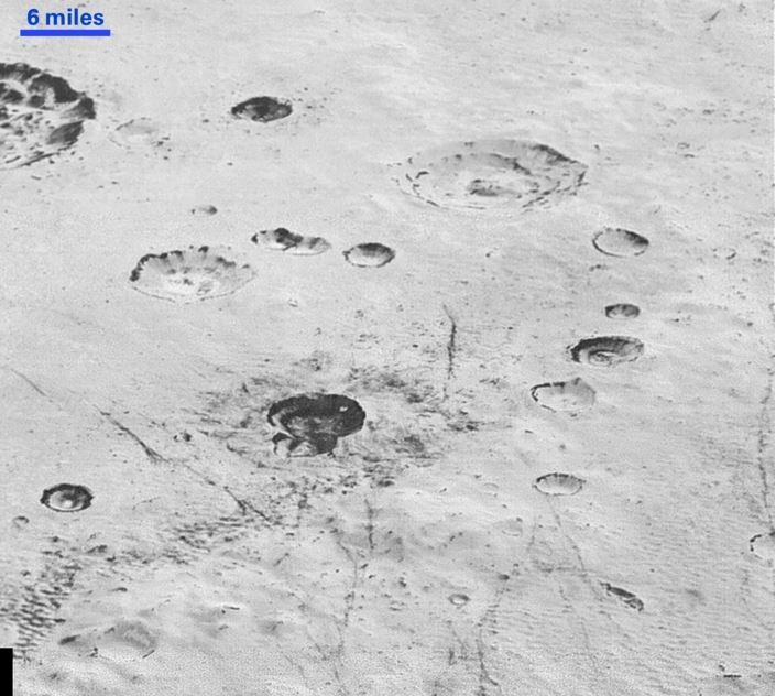Pluto images craters