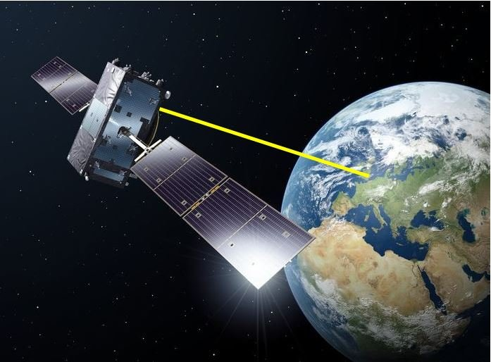 Satellite with laser weapon