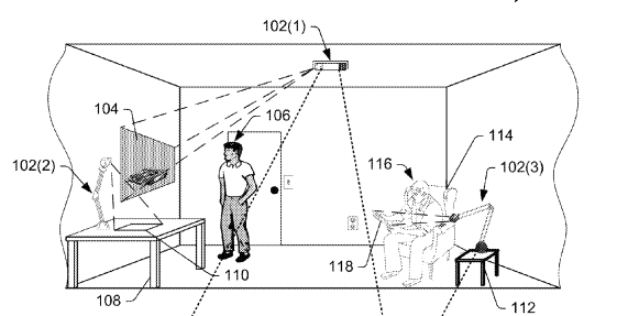 Amazon patent augmented reality