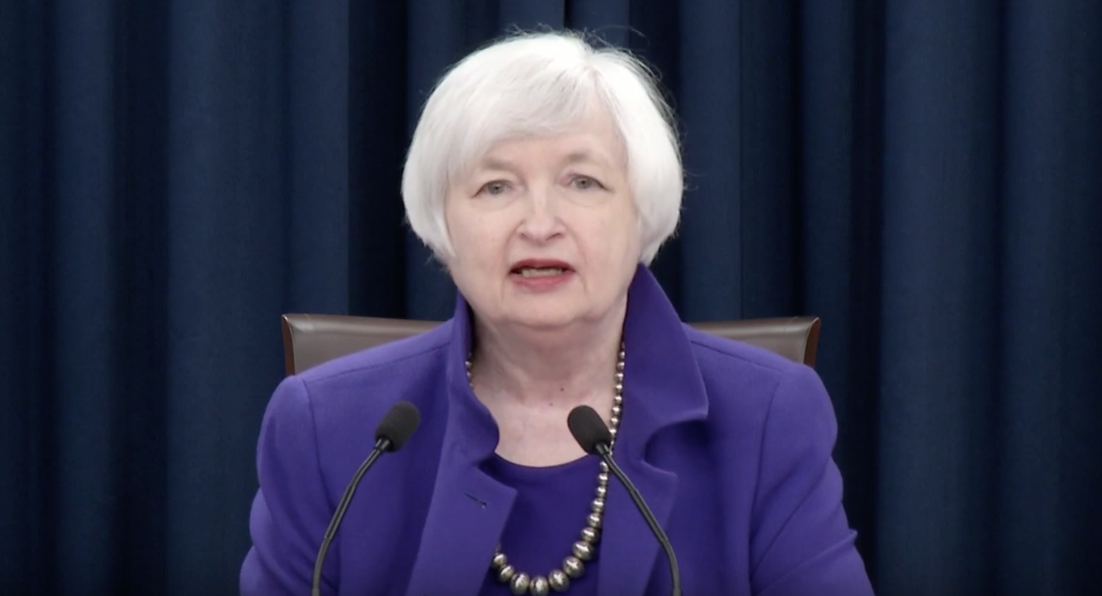 Janet Yellen Fed Chair Announcing Rate Hike