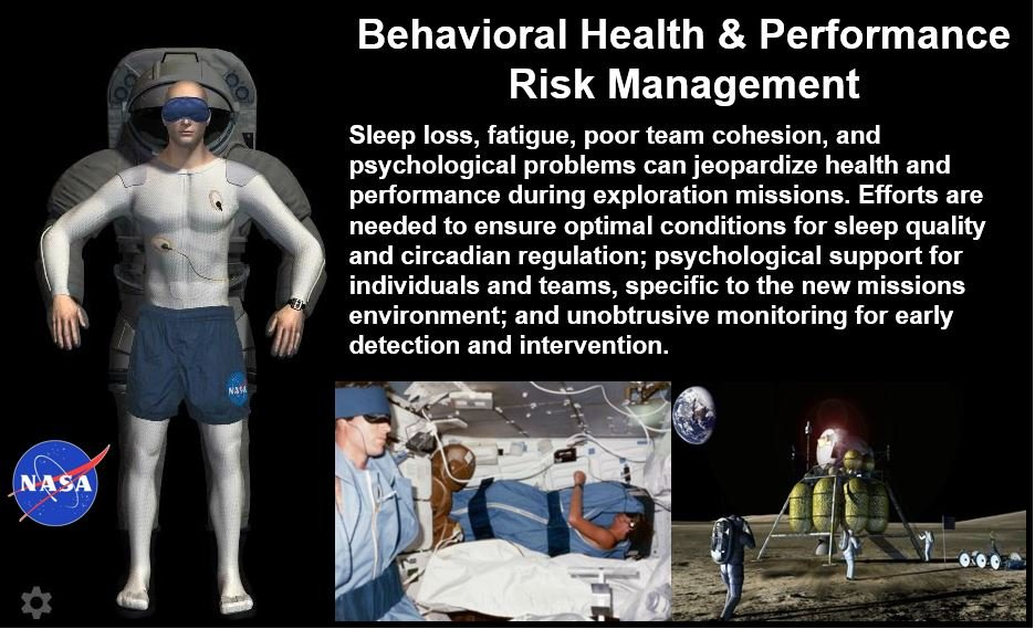 Sleep problems astronauts