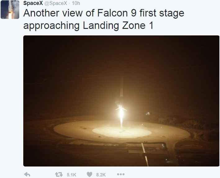 SpaceX makes history first stage landing