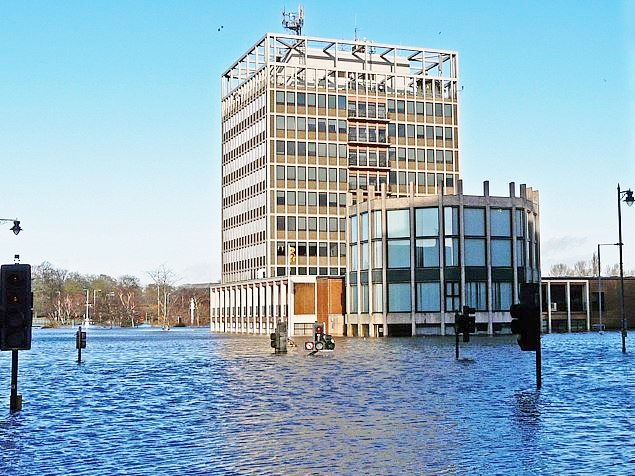 Storm Desmond Carlisle Civic Centre