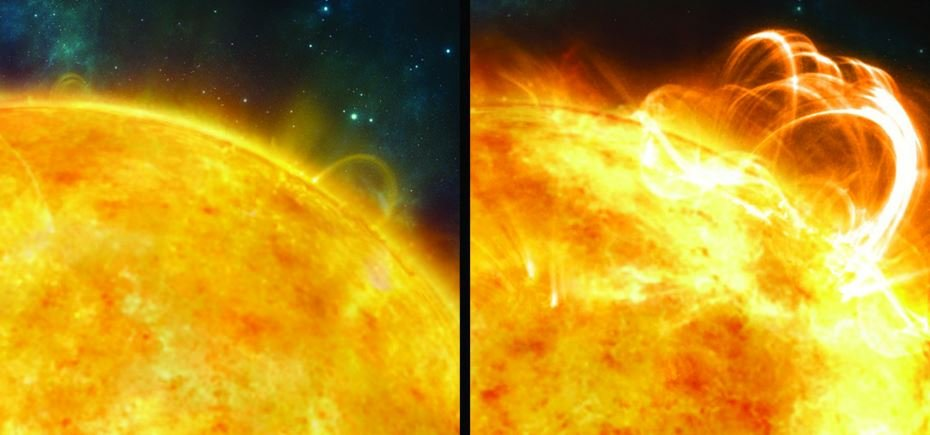 Sun without and with superflare