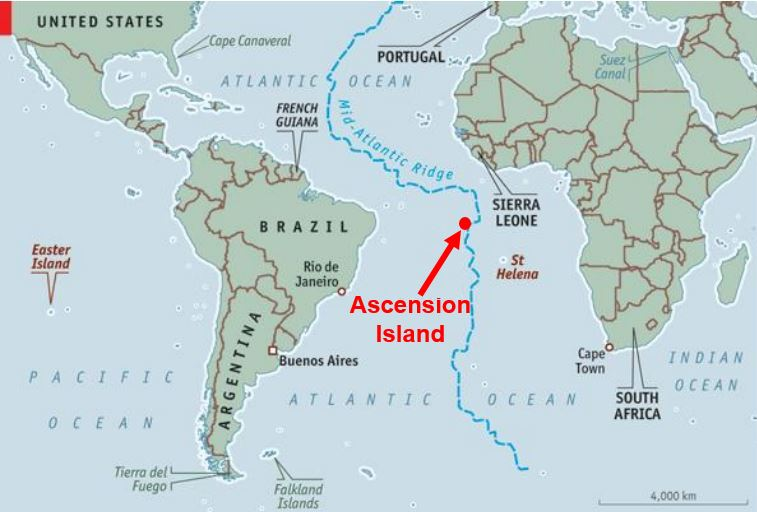 Massive marine reserve nearly UK size around Ascension Island