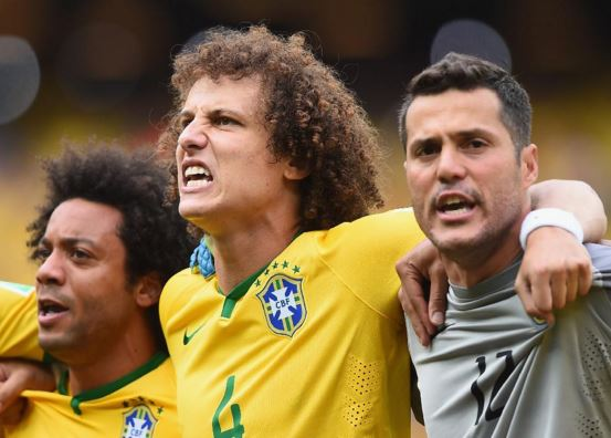 Brazil tea singing national anthem