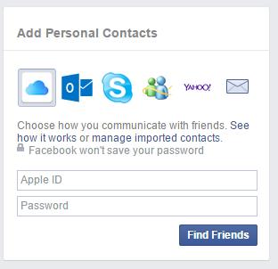 Find-Friends facebook