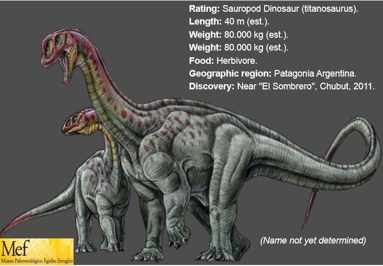 Giant dinosaur Titanosaurus