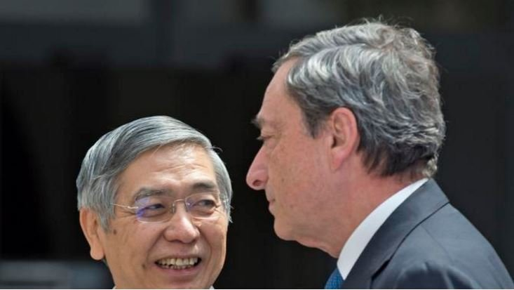 Governors of the ECB and Bank of Japan