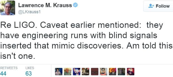 Gravitational wave detection not false alarm