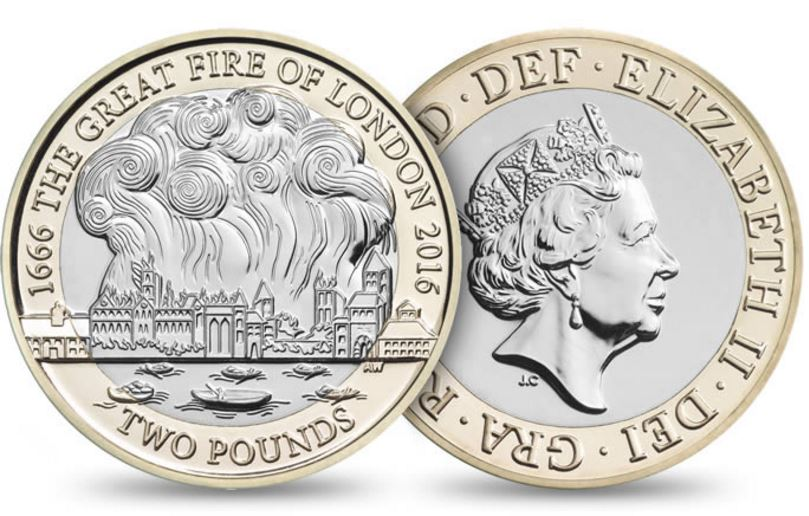 Great Fire of London new coin