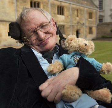 Hawking says a sense of humour is vital
