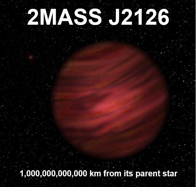 Huge Planet in Giant Solar System