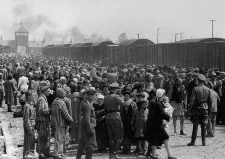 Hungarian Jews at the concentration camp
