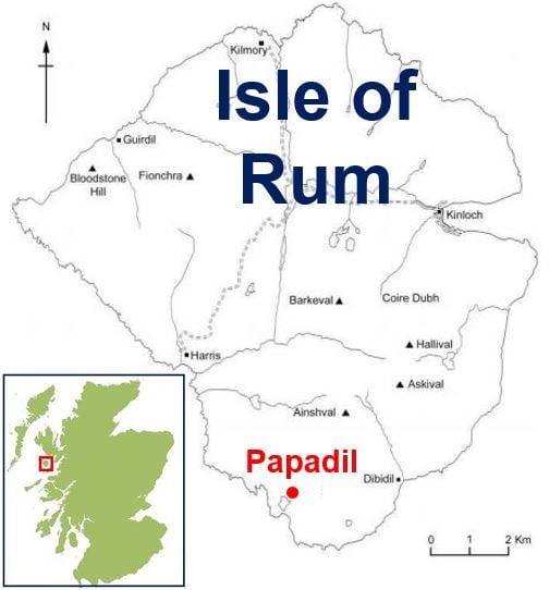 Isle of Rum where the mega earthworms live