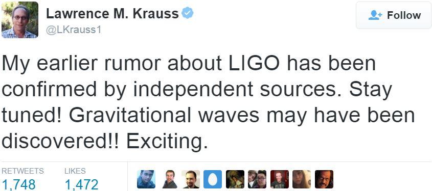 Lawrence Krauss on gravitational waves