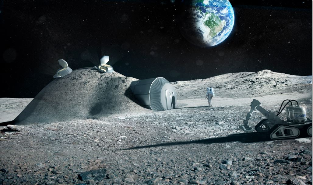 Lunar base built using 3D printing European Space Agency