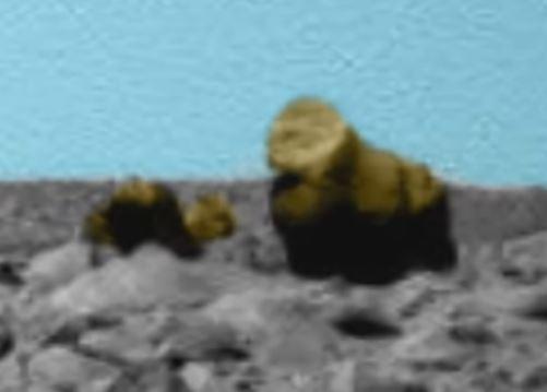 Martian gorilla and camel in colour