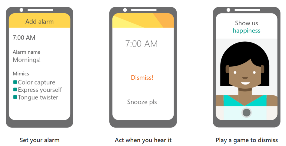 Microsoft's New Android Alarm Wants You To Find Something Green