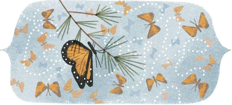 Mountain of Butterflies first Google Doodle of 2016