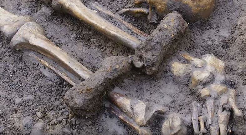 Skeleton shows the person had been shackled