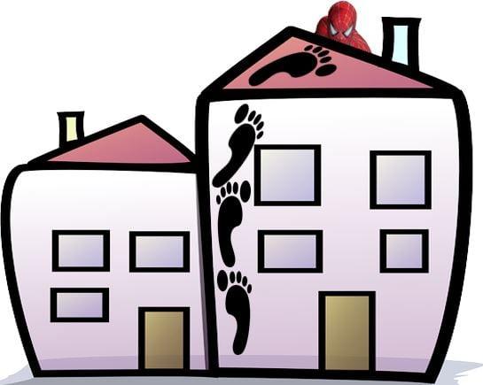 Spiderman giant footprints