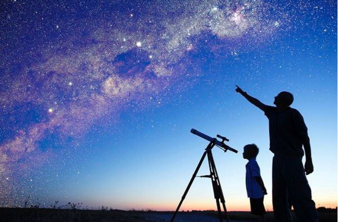 Stargazing with child