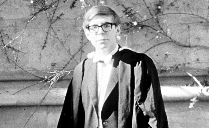 Stephen Hawking young man