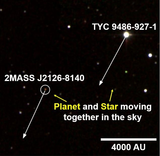 The planet and star were seen moving together in the sky