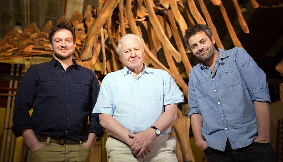 Ben Garrod, Sir David Attenborough and Diego Po